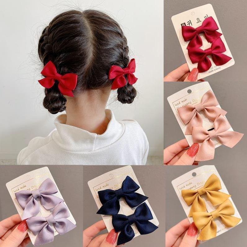 韩国蝴蝶结头饰女童发夹可爱小号发卡