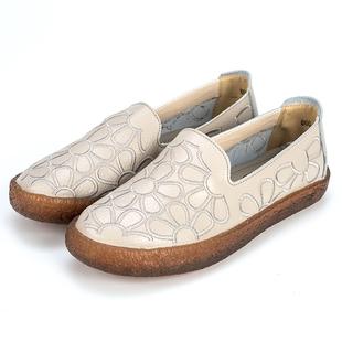 真皮软底防滑中年妈妈女鞋