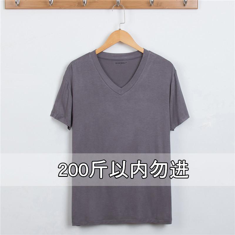 Của nam giới mùa hè ngắn tay T-Shirt dịch vụ nhà đồ ngủ phần mỏng lỏng cộng với phân bón XL mặc giản dị trắng phương thức