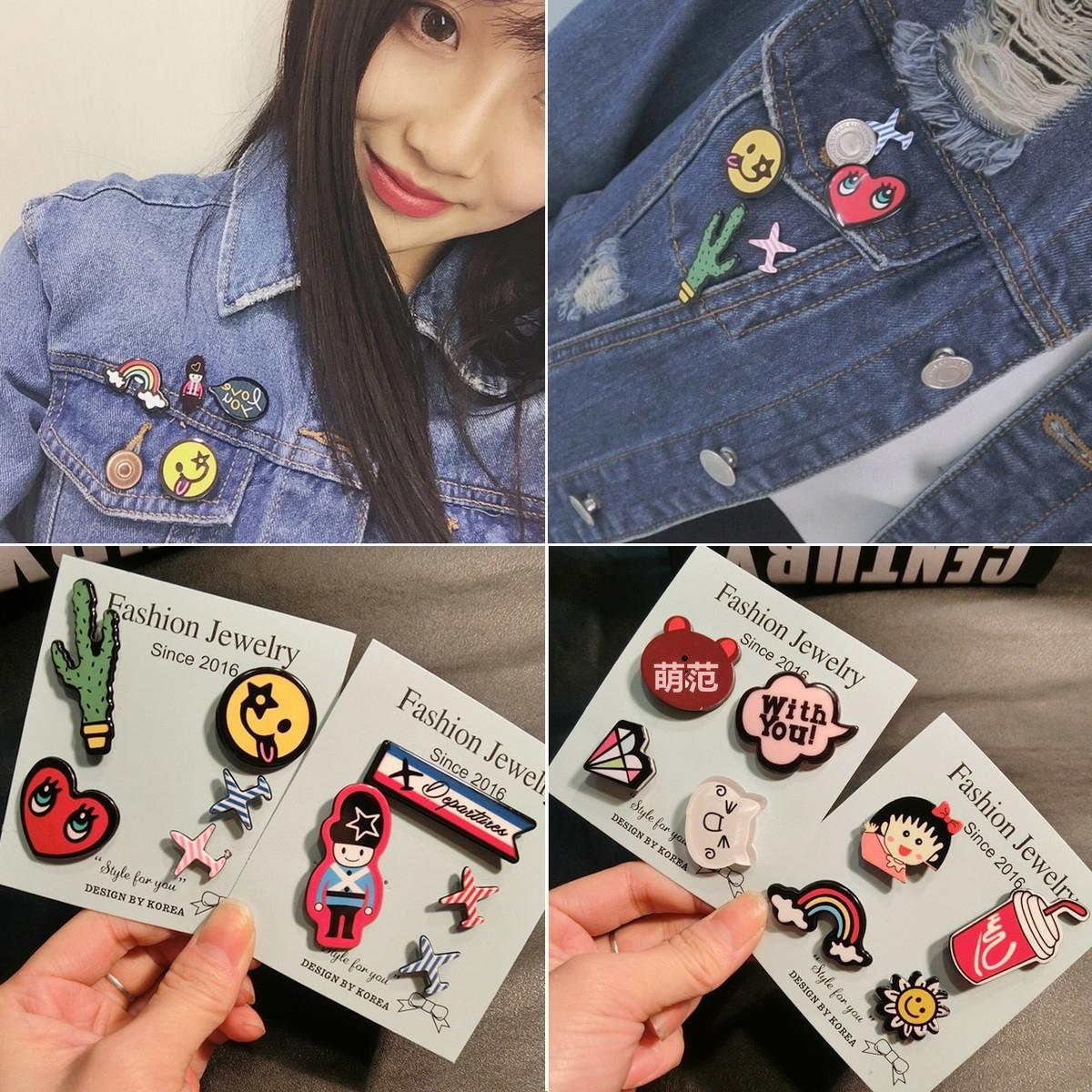 Nhật bản và Hàn Quốc máy bay huy hiệu acrylic trâm nữ Hàn Quốc trâm phụ kiện cổ áo dễ thương cartoon pin người lớn khóa nữ