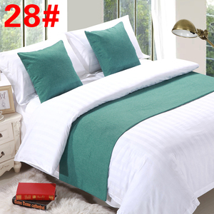 Khách sạn khách sạn bộ đồ giường vải cao cấp khách sạn giường màu rắn khăn khách sạn giường cờ giường đuôi pad bảng cờ trải giường