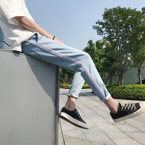 织带九分裤 牛仔裤 港风店主原宿休闲日系男 NK1008