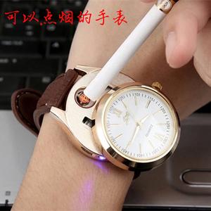Xem nhẹ hơn sạc windproof cá tính sáng tạo USB thuốc lá điện tử kim loại nhẹ hơn đồng hồ nam món quà sinh nhật