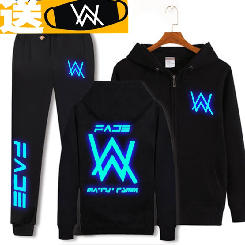 Alan Walker phù hợp với áo khoác Allen Walker DJ áo len phát sáng remix với Faded điện tử nam giới và phụ nữ