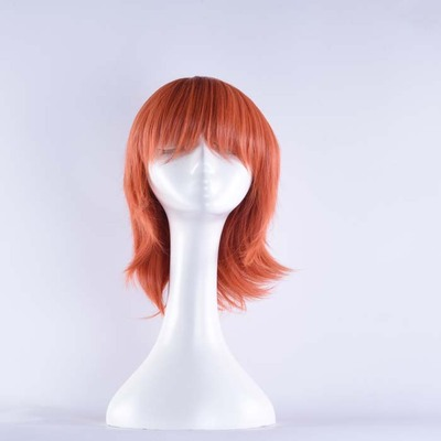 taobao agent One Piece-Nami Pink Cosplay Anime Wig Anti-curled Medium Long Hair