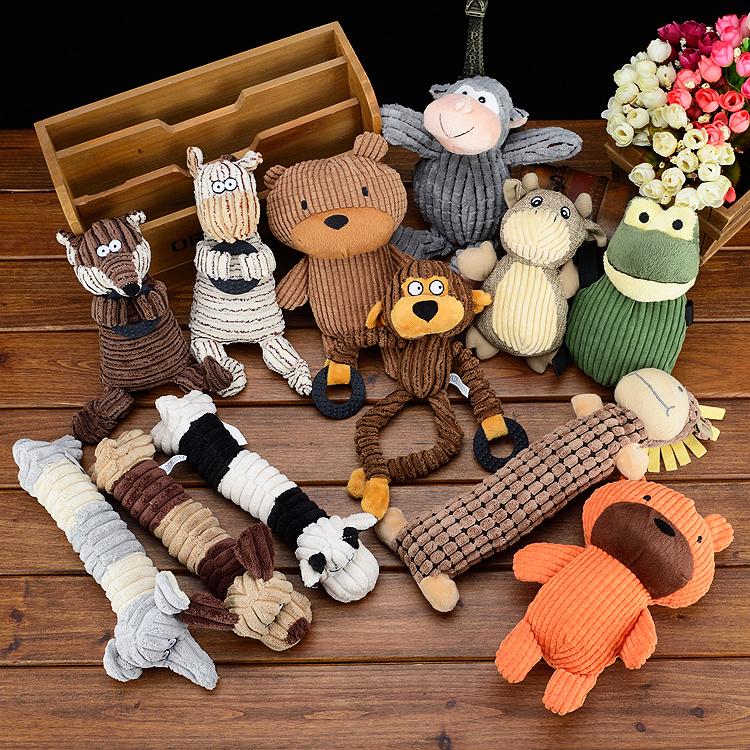 Pet đồ chơi vocal đồ chơi vẻ đẹp cat dog đồ chơi puppies Teddy bear gấu VIP Tha Mồi Vàng puppy mol đồ chơi