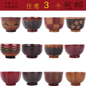 Đặc biệt cung cấp phong cách Nhật Bản bát gỗ giải phóng mặt bằng chế biến gạo hộ gia đình bát snack tấm gỗ món ăn bằng gỗ cốc bằng gỗ sáng tạo bộ đồ ăn bằng gỗ