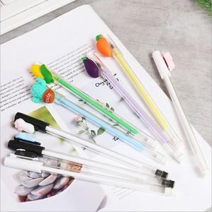 MUMU sản phẩm tốt trái cây dễ thương mèo móng vuốt bút gel bút hoạt hình bút màu đen sinh viên văn phòng phẩm bút hoạt hình xung quanh