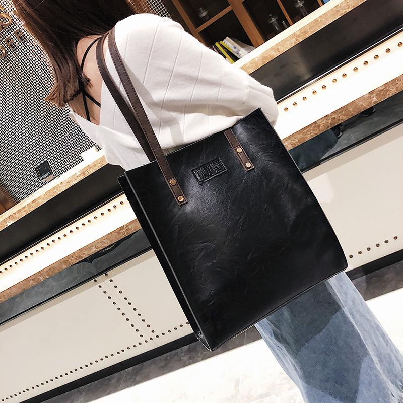 Купить Сумки. Большие сумки 2019 осень и зима Новый женская сумка Европа  ретро минималистский портфель мода сумка Сумка прилив пакет из Китая в ... 438f8e5fc84