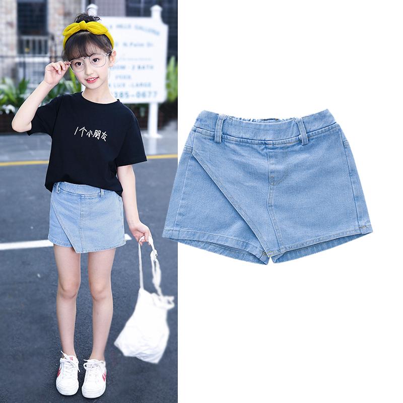 Cô gái quần short denim mỏng Hàn Quốc phiên bản của tự nhiên hoang dã bông thời trang mùa hè trẻ em lớn của quần mùa hè 2018 new