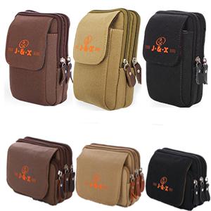 Túi điện thoại di động của nam giới dọc túi vải đa chức năng mặt cắt ngang vành đai mặc 5.0 5.5 inch mini treo