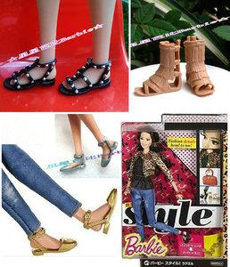 Sao đồ chơi 6 điểm búp bê giày chính hãng phụ kiện phong cách búp bê chính thức với đáy phẳng giúp đỡ cao roman dép