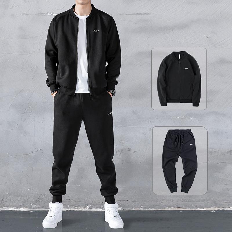 卫衣男运动套装2020春季新款潮流棒球服外套搭配帅气两件休闲服装