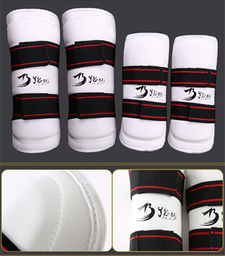 Taekwondo xà cạp arm guard trẻ em dày tăng cường võ thuật chiến đấu đào tạo đặc biệt taekwondo tấm lót khuỷu tay miếng đệm đầu gối