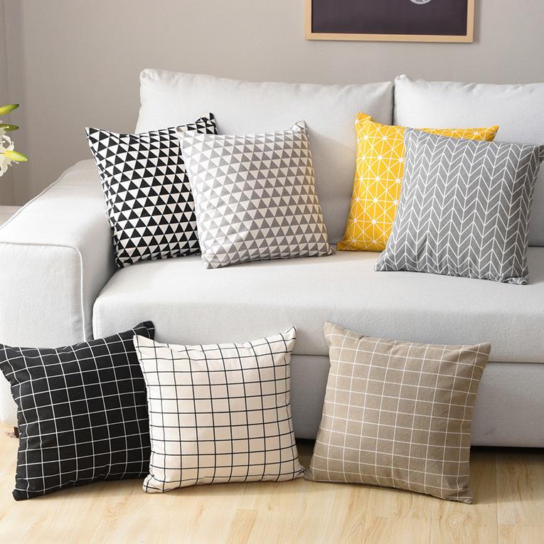 Bắc âu bông và vải lanh gối cạnh giường gối xe ngủ trưa văn phòng eo dựa trên Nhật Bản-phong cách đơn giản sofa đệm