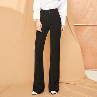 垂感喇叭裤微喇高腰秋冬直筒裤长裤