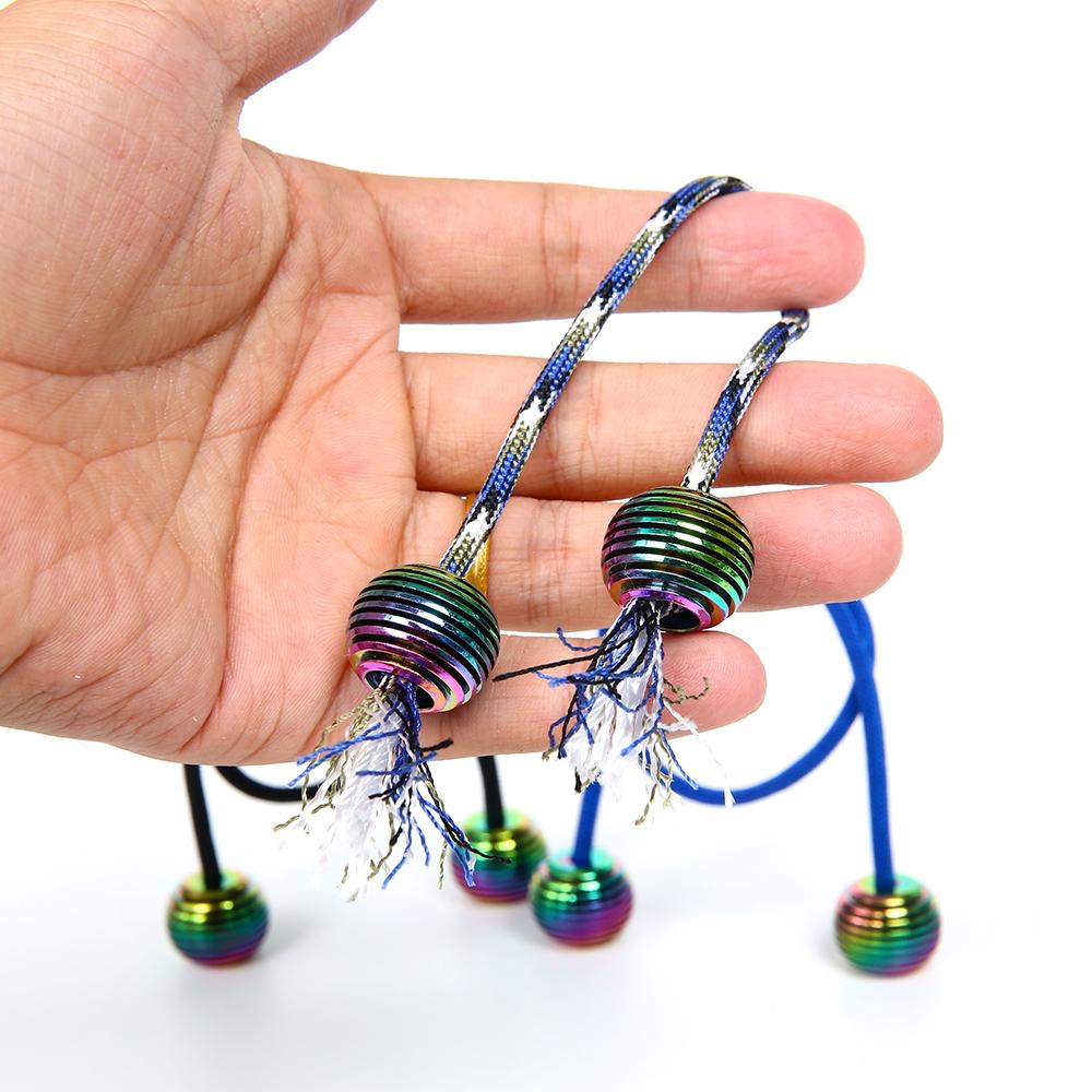 Begleri 宝 乐 珠 二 珠 一 绳 ngón tay yo-yo đầu ngón tay cực di chuyển ngón tay giải nén con quay hồi chuyển