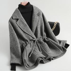 Chống mùa giải phóng mặt bằng 2018 mới ngắn áo len ngắn nhỏ hai mặt cashmere áo khoác mùa đông quần áo của phụ nữ