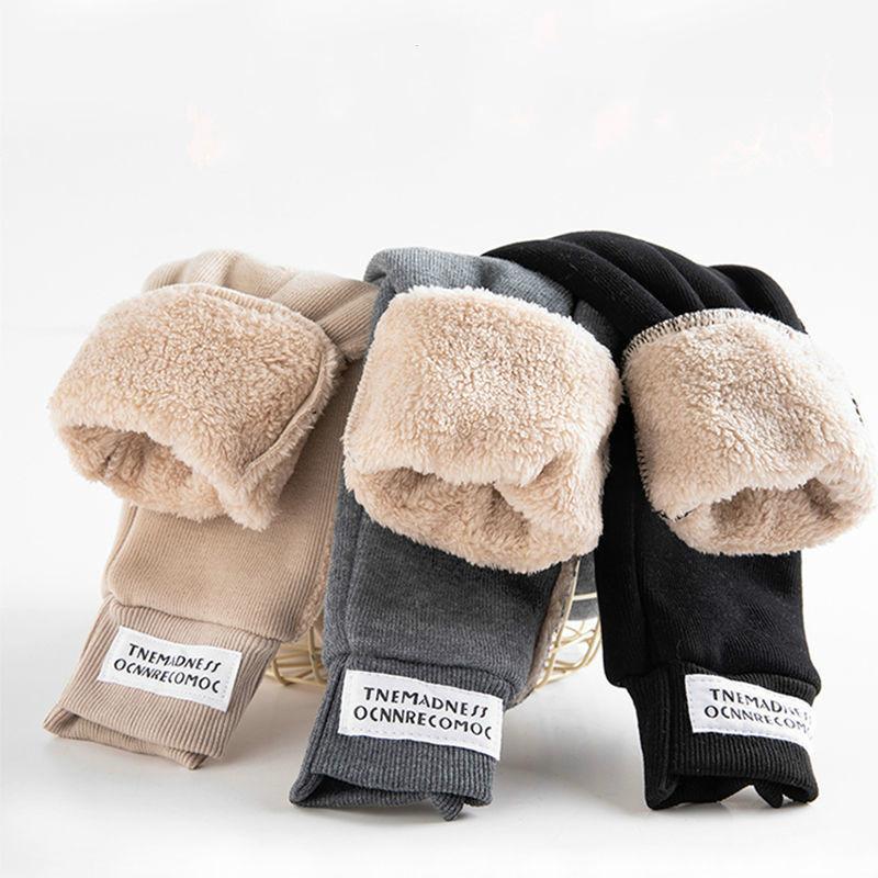 秋冬季男女儿童裤子加绒◇加厚羊羔绒运动裤休闲裤保暖洋气秋装外穿