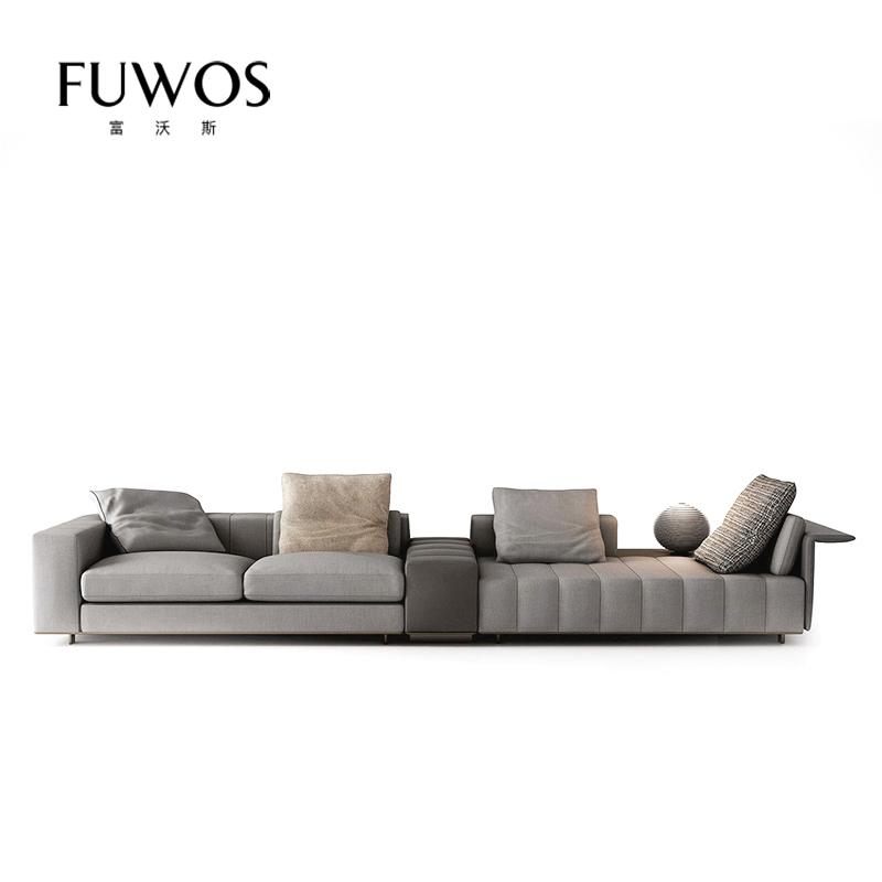 Minotti италии стиль после современный свет экстравагантный кожа ткань FREEMAN диван конец мебель сделанный на заказ