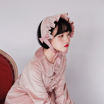 taobao agent Southern Cross Second Edition Pearl Miss Sister Hairband Velvet Lolita Retro Baby Hat Bonnet Spot