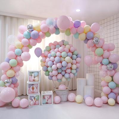 ins网红气球儿童生日派对宝宝周岁生日布置马卡龙热气球装饰结婚小女孩小男孩生日节日聚会礼物流行