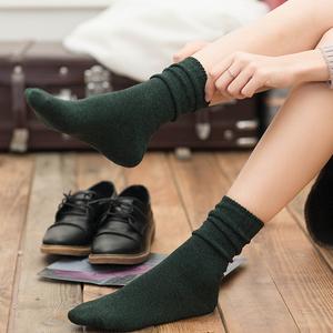韩国秋季百搭中筒薄款堆堆袜4双
