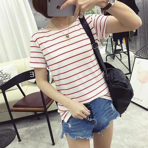Thai sản đầm mùa hè lỏng ngắn tay bông t- shirt Hàn Quốc phiên bản của phụ nữ mang thai là mỏng mùa hè 2018 mới t- áo sơ mi nữ thủy triều