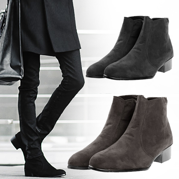 Details about Fashion Men\u0027s British Style Cuban Heel Zip Shoes High Top  Casual Ankle Boots New