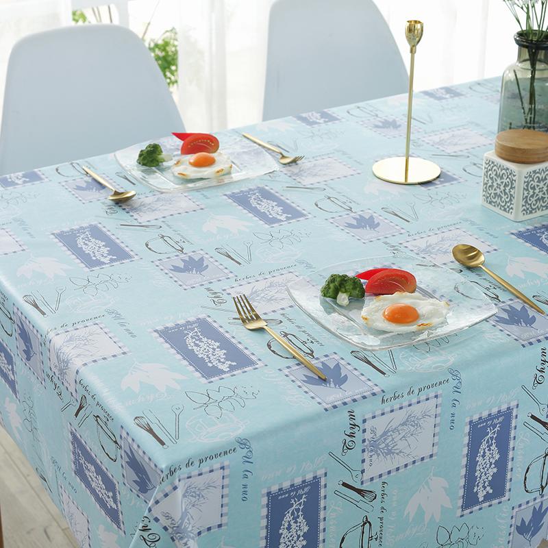 桌布防水防烫防油免洗pvc仿棉麻布艺小清新长方形ins茶几餐桌垫