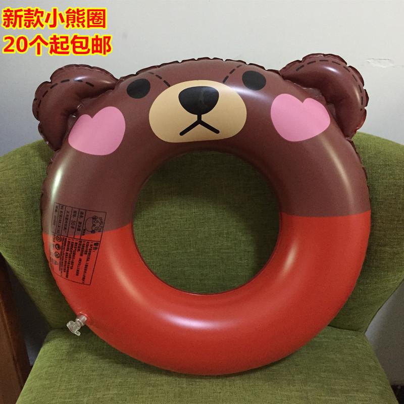 Dày inflatable vòng tròn phim hoạt hình bơi vòng chàng trai và cô gái trẻ em quần dưới chiếc nhẫn float dễ thương gấu nhỏ bán buôn