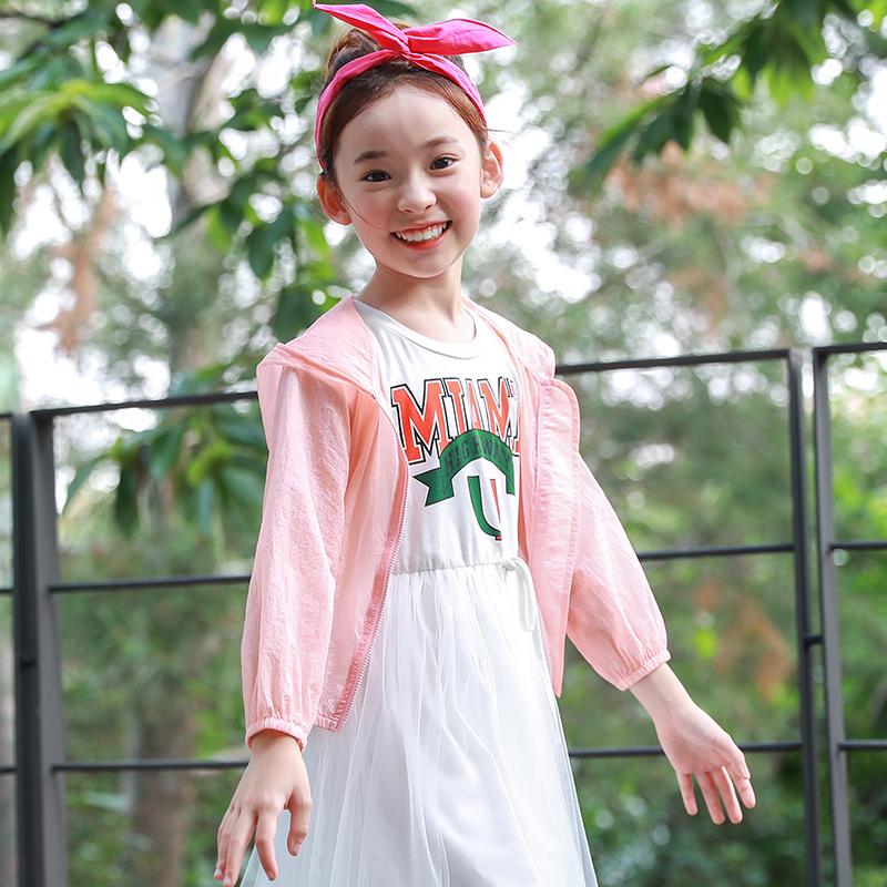 童装女童防晒衣中大童空调衫轻薄亲子外套儿童皮肤衣新款促销包邮