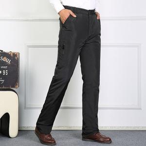 Xuống quần nam mặc cha trung niên trung niên dày mùa đông tuyết mùa đông quần áo quần có thể tháo rời thời trang ấm áp