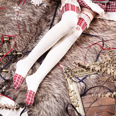 taobao agent Little Red Riding Hood over the knee cotton socks classical doll lolita over the knee cotton socks in stock
