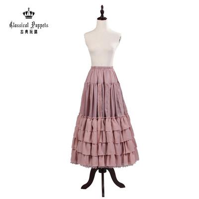taobao agent Chiffon adjustable extension petticoat classical doll Lolita skirt in stock