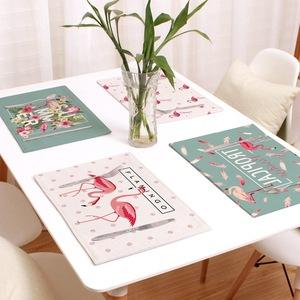 Nhà vải hai mặt dày cotton và linen cách nhiệt mat bảng Phương Tây sinh viên bảng mat chống nóng pad linen bát mat coaster