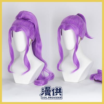 taobao agent 【Confession】Aikatsu! Idol event Kanzaki Mizuki cos wig purple high style + ponytail