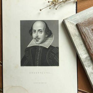 [Whim Đánh Giá Cao] Tây antique copperplate sơn tấm thép Shakespeare avatar nhập khẩu hàng hóa bộ sưu tập