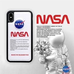 buy online e1369 6cb83 2 NASA Phone Cases Covers Embroidered Synthetic Leather Stitch Silicone TPU  Unique Cool iPhone XR, iPhone XS Max, iPhone X / iPhone XS, iPhone 8, ...