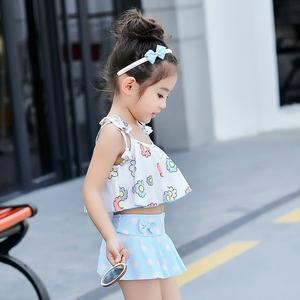 Trẻ em Hàn Quốc cô gái bé áo tắm chia áo tắm nữ trẻ 1-3 tuổi bé gái kho báu con dễ thương