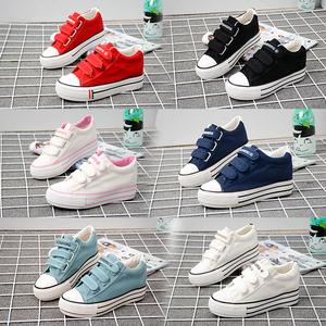 Tăng cường phiên bản Hàn Quốc của giày vải Velcro và giày thấp của phụ nữ trong đôi giày có đế dày mùa hè