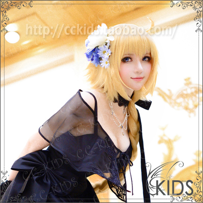 taobao agent CCKIDS [fate FGO] Joan of Arc Twisted Braid COSPLAY Wig Longer and Bold