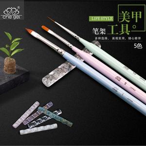Nhật bản Acrylic Trong Suốt Chủ Bút Bạch Kim Kẹo Màu Làm Móng Pen Lưu Trữ Giá Công Cụ Nailware Mùa Thu Mới