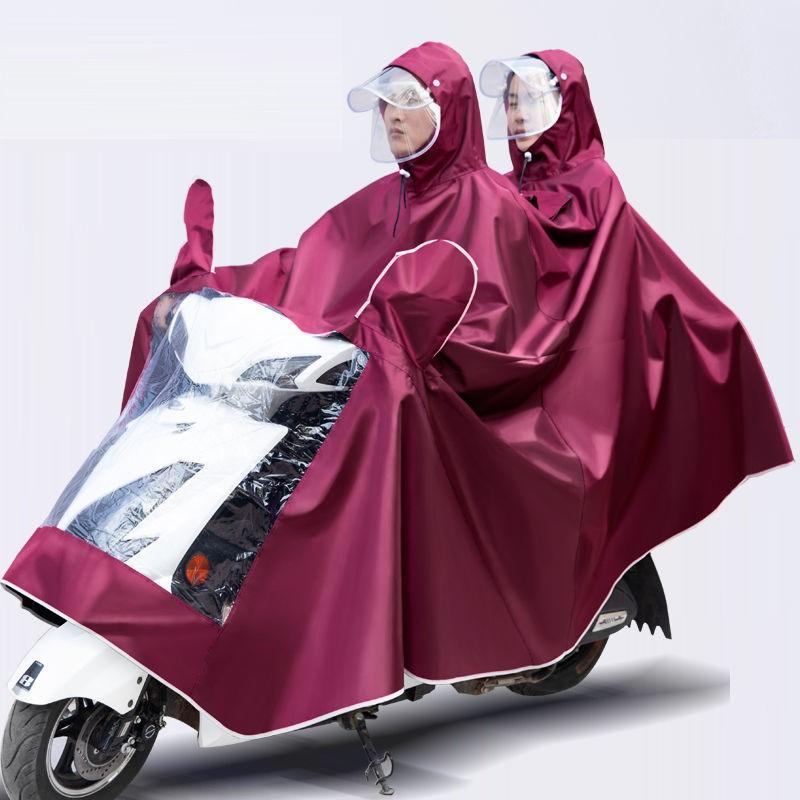 雨衣电动车雨披电动车摩托车单双人雨衣加大加厚自行车雨衣男女