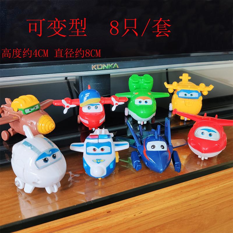 可变形超级飞侠蛋糕摆件装饰小飞侠儿童生日蛋糕乐迪飞机