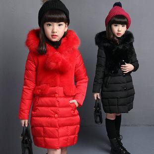 秋冬女童外套兒童棉服中長款棉衣女孩棉襖