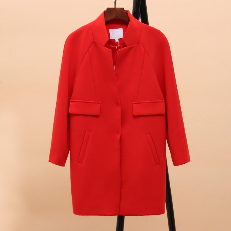 风系列撤柜折扣女装初秋长袖外套女韩版新款小立领宽松中长款风衣