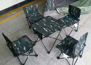 Bàn ngoài trời và ghế ngụy trang lệnh năm mảnh bảng và ghế đồ nội thất kết hợp bãi biển bảng và ghế ghế hợp kim giải trí ghế