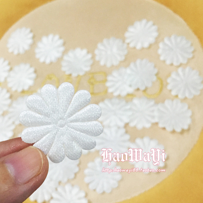 taobao agent DIY handmade fabric accessories, mini fabric flowers, craft small white flowers with a diameter of about 2.8cm2 yuan 40 pieces