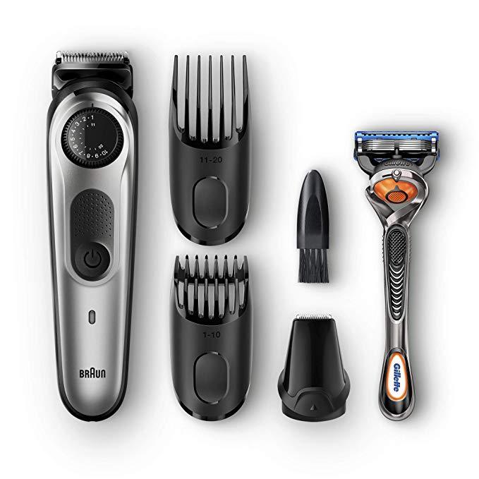 神价格!终身锋利+39级长度可调:Braun/博朗 BeardTrimmer BT5060 电动胡须修剪器